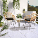 Casaria 3 Pieces Patio Balcony Lounge Outdoor Bistro Set