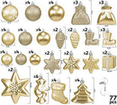 BRUBAKER 77-Piece Set Christmas Tree Decorations Baubles