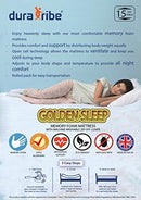 DuraTribe Golden Sleep Smart EU Single Memory Foam Mattress |15cm| Firm Comfort Orthopaedic | Zipped Removable Washable Soft Micro Quilted Cool Breathable Cover 90 x 200 cm