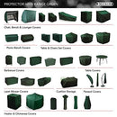 Bosmere Cover Up 8 Seat Rectangular Patio Set Cover, Green, C535