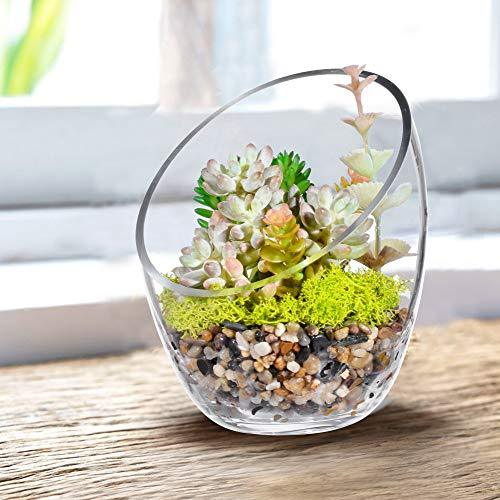 KnikGlass Glass Slant Cut Bubble Bowl - zedhouses