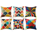 Topfinel Colorful Geometric Cushion Cover - zedhouses