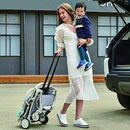 RUXGU Lightweight Stroller,Compact Travel Buggy,One Hand Foldable,Five-Point Harness,Great for Airplane (Blue)
