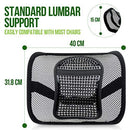 RenFox Mesh Back Support for Office Chair, Ergonomic Lumbar Support Cushion for Car Seat Mesh, Back Rest Support Cushion with Elastic Strap, Back Pain Relief Chair Cushion