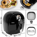 Duronic Air Fryer AF1 /B BLACK| Oil-Free & Low-Fat Healthy Cooking