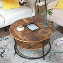 VASAGLE Round Coffee Table LCT80BX - zedhouses