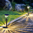 Twinkle Star 50 Lumens 42X Brighter Solar Path Lights Solar Garden Lights, Solar Landscape Lights Outdoor for Lawn Patio Yard Driveway, Matte Black, 4 Pack