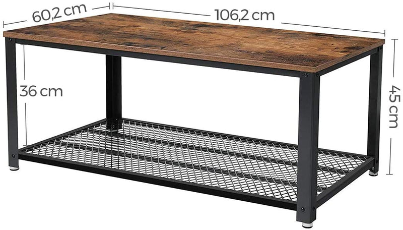 VASAGLE Industrial Design Coffee Table | ZedHouses - zedhouses