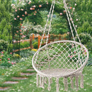 D4P Display4top Beige Hammock Chair Macrame Swing,Hanging Cotton Rope Swing Chair, Comfortable Sturdy Hanging Chairs for Indoor, Outdoor, Home, Patio, Yard, Garden,Max Weight: 120KG