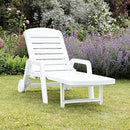 RESOL, Palamos Folding Sun Lounger, White, Foldable, Plastic, Pack of 2