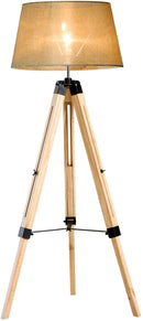 HOMCOM Tripod Floor Lamp, cream shade | ZedHouses