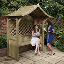 Party Arbour and Barbeque Shelter Pressure Treated Fire Retardant Timber