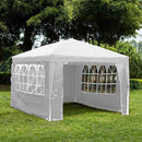SANHENG Gazebo With Sides, Waterproof Gazebo with 4 Side Panels, Fully Waterproof, Party Tent Marquee Awning with Powder Coated Steel Frame (3x4m,White)