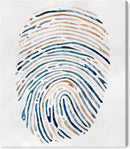 Multi-Colour Fingerprint Design Canvas Print | ZedHouses