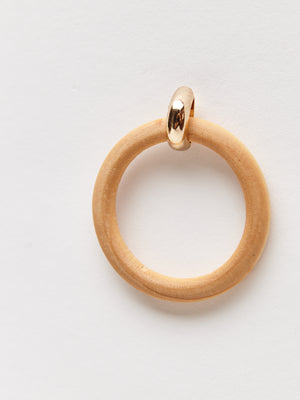 wooden hoop earrings detail shot