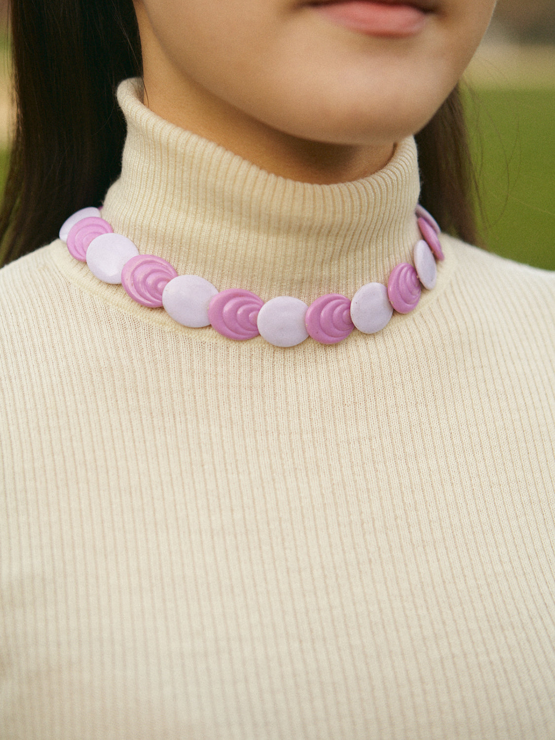 Vintage Purple Circles Chocker