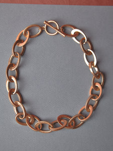 Thick Oval Matte Gold Chain