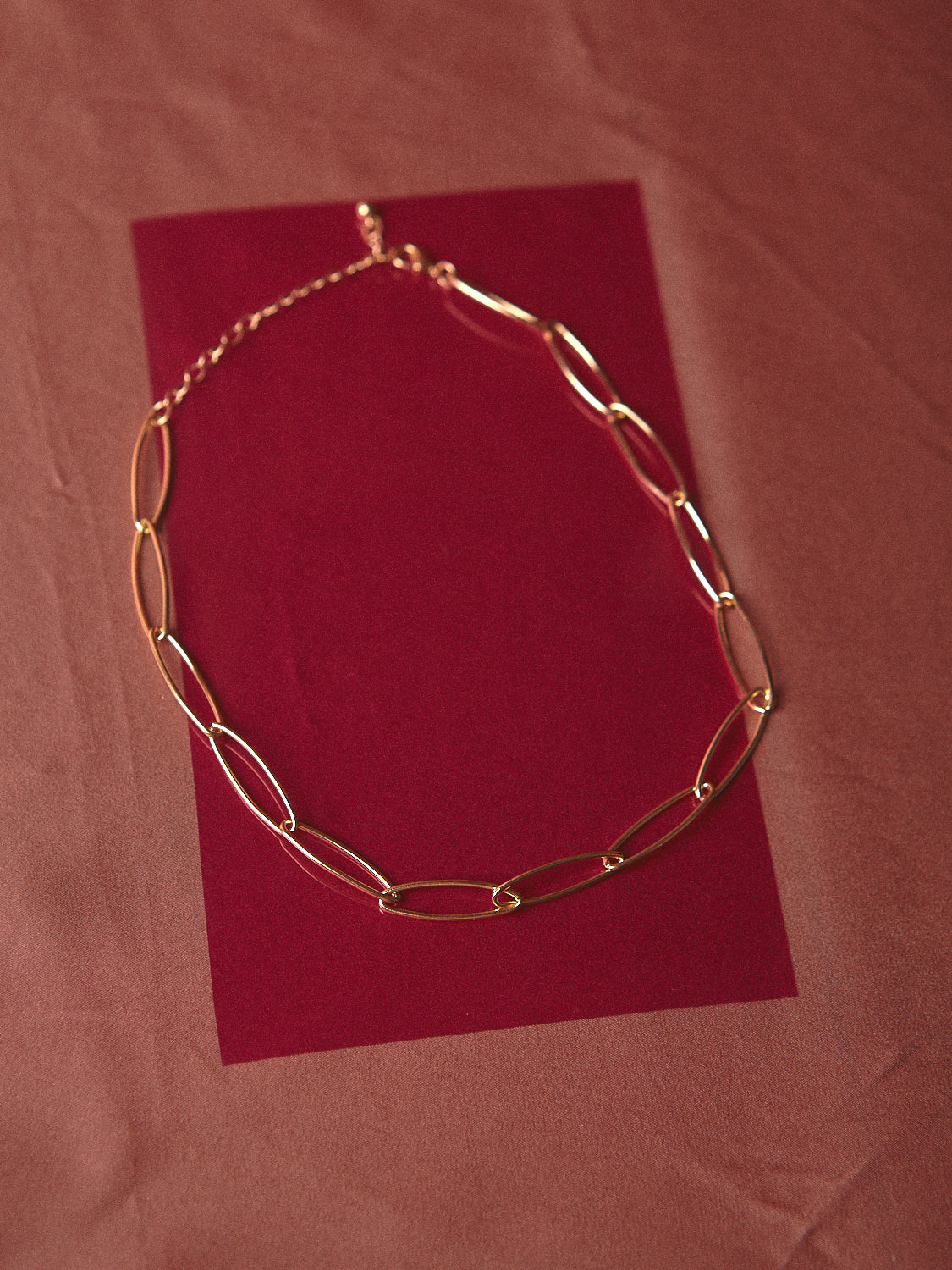 Thin Oval Gold chain