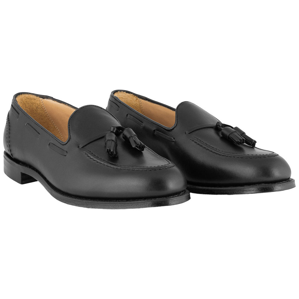 Sort loafer med tassel