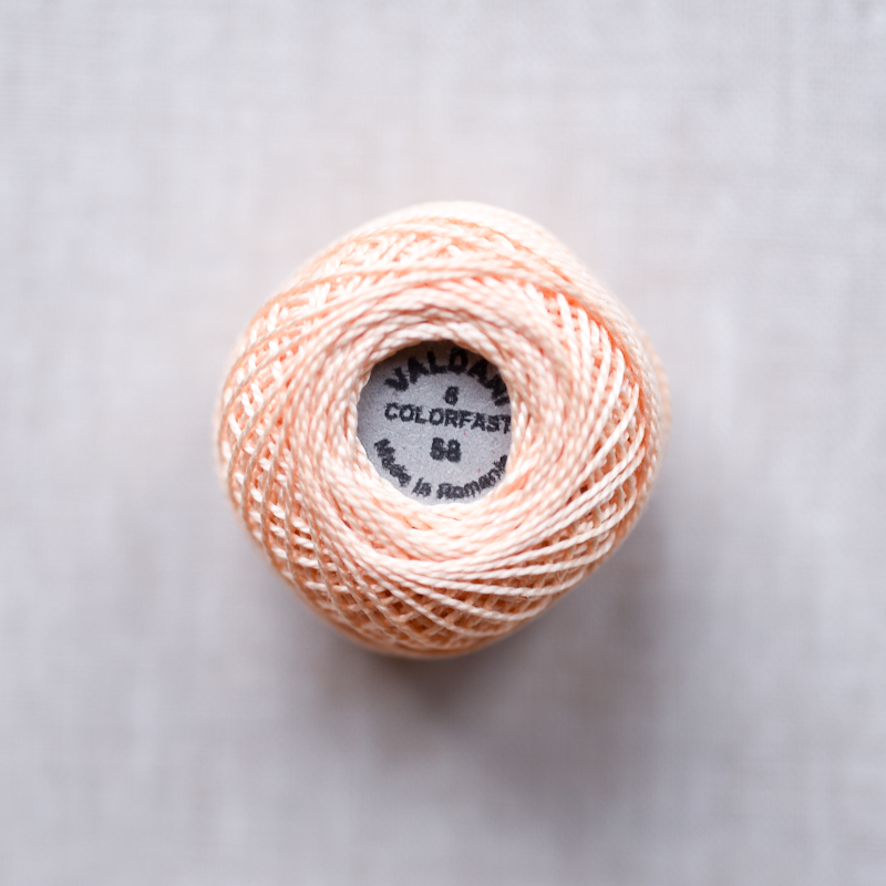 Valdani Pearl : 58 - Soft Banana : Solid Cotton Thread : 8wt : 67m