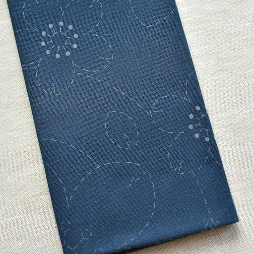 Emma Creation : Sashiko Sampler : Navy Sakura