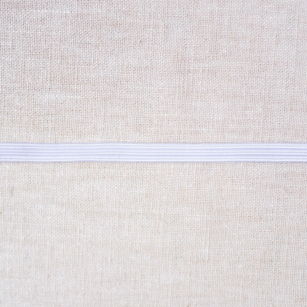 "Gypsy Quilter : White Flat Elastic : 1/4"" wide by the metre"