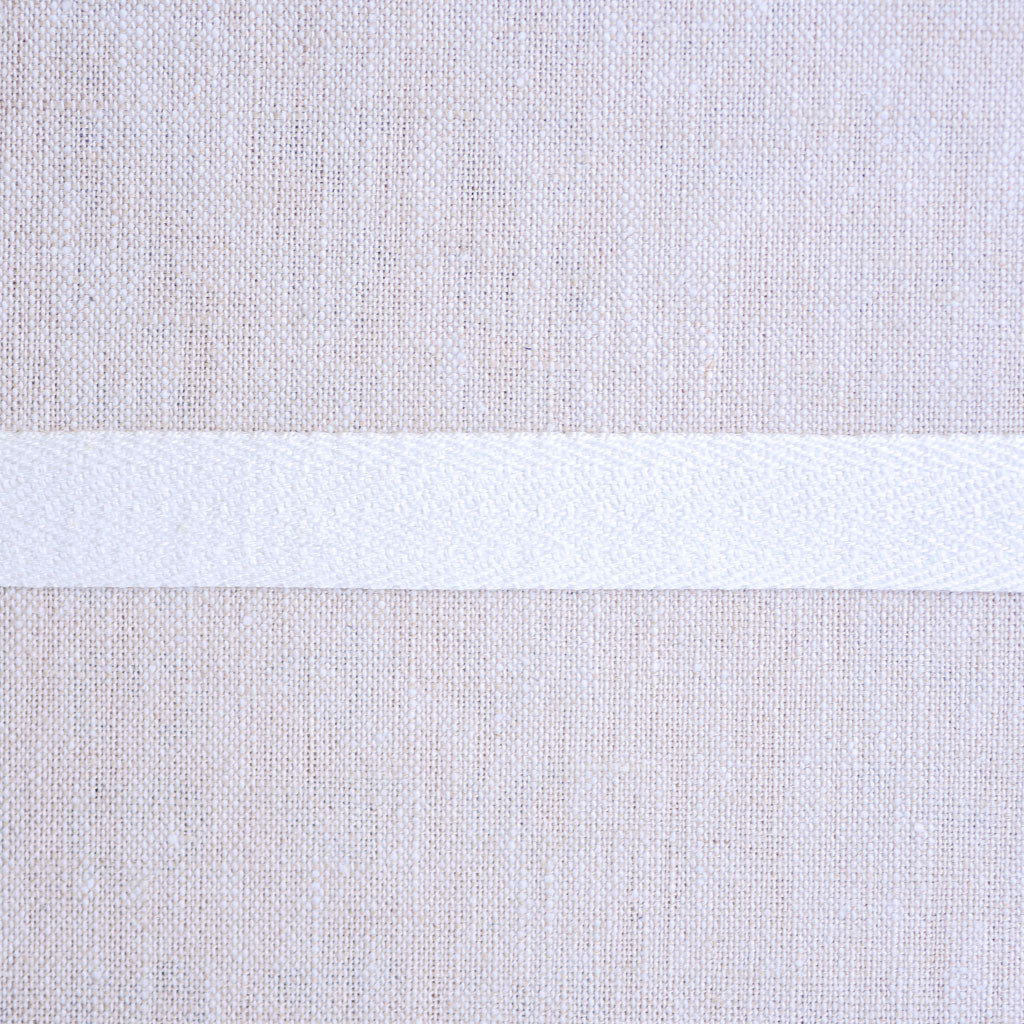 "Cotton Twill Tape : 1/2"" Wide : Off White"