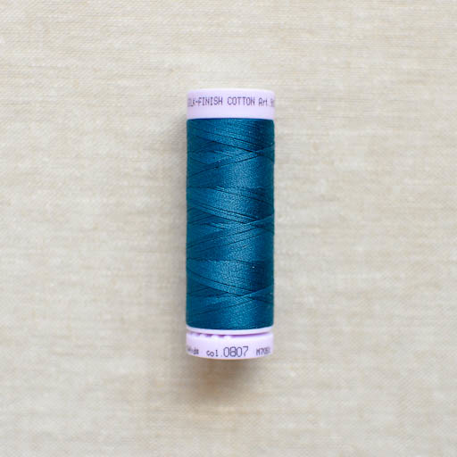 Mettler : Silk-Finish Cotton Thread : Slate Blue : 150m