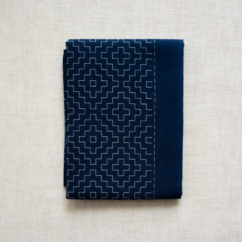 Emma Creation : Sashiko Sampler : Navy Kaki no Hana