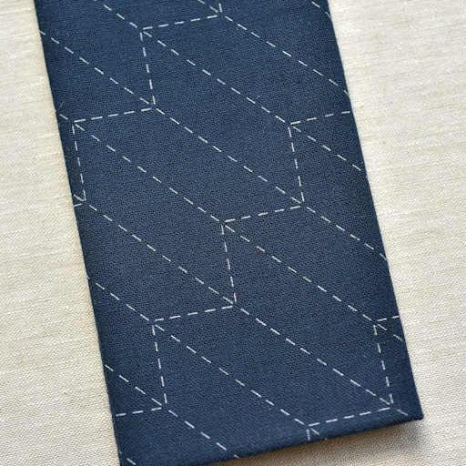 Emma Creation : Sashiko Sampler : Navy Yabane