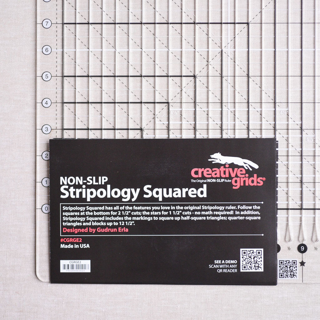 "Creative Grids : Stripology Squared Ruler : 14 1/2"" x 17 3/4"""