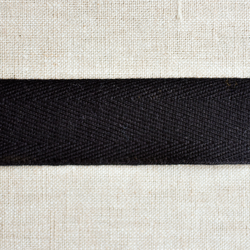 "Cotton Twill Tape : 1"" Wide : Black"