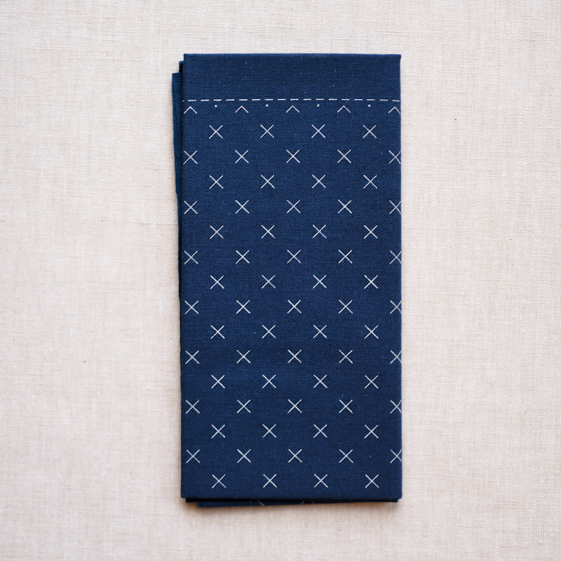 Emma Creation : Sashiko Sampler : Navy Asagao
