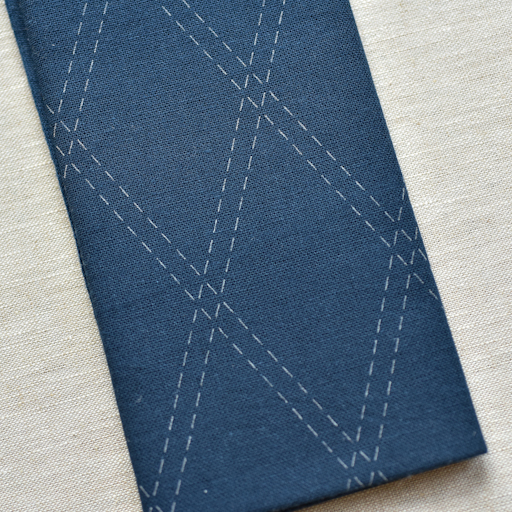 Emma Creation : Sashiko Sampler : Navy Tasuki