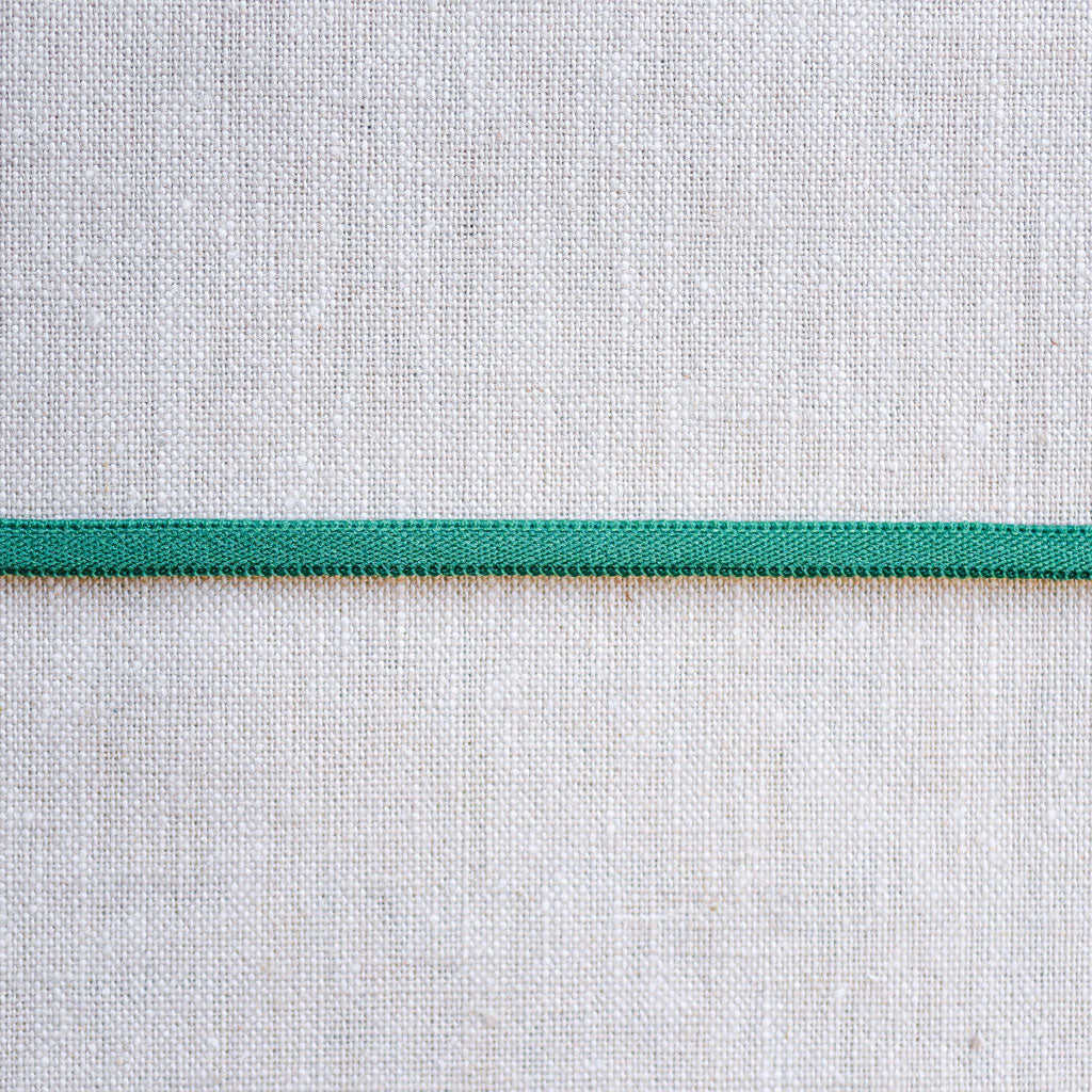 "Galaxy Notions  : Banded Stretch Elastic : Green : 1/6"" wide by the metre"