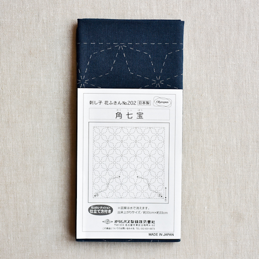 Emma Creation : Sashiko Sampler : Navy Kaku-Shippo