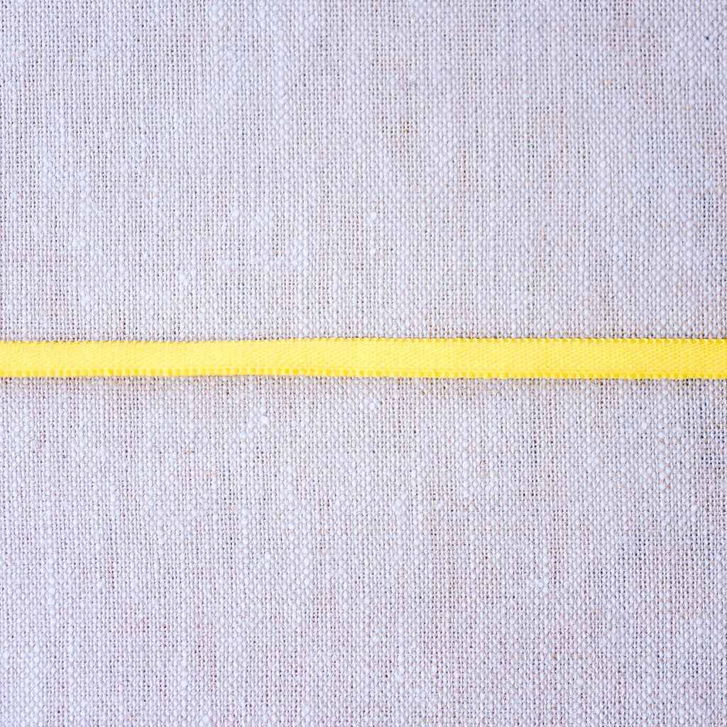 "Galaxy Notions  : Banded Stretch Elastic : Yellow : 1/6"" wide by the metre"