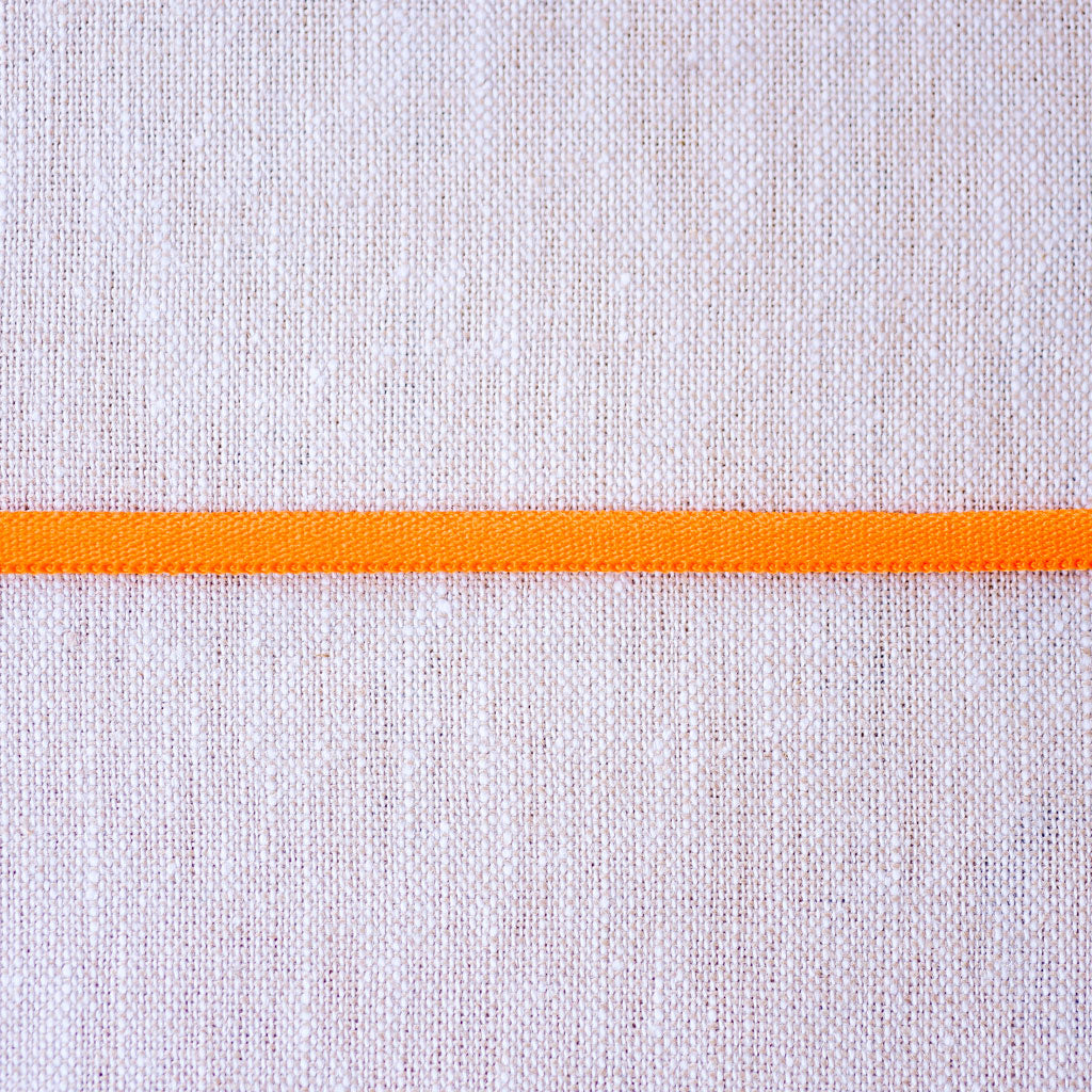 "Galaxy Notions  : Banded Stretch Elastic : Orange : 1/6"" wide by the metre"