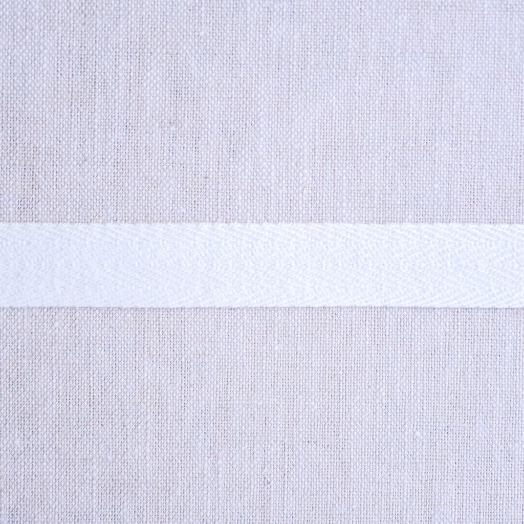 "Cotton Twill Tape : 1/2"" Wide : White"