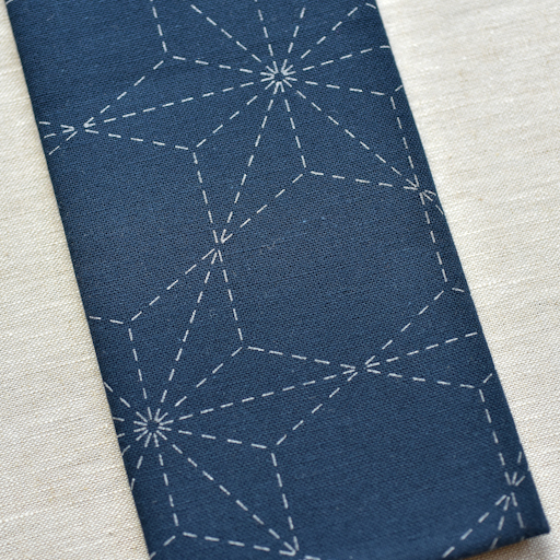 Emma Creation : Sashiko Sampler : Navy Tobi-Asa-No-Ha