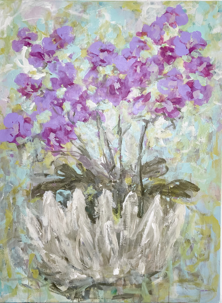 "Orchids in a Shell II  <br>40"" x 30"""