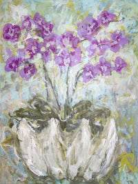 "Orchids in a Shell I  <br>40"" x 30"""