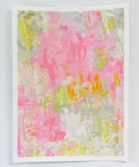 "Pink & Green Abstract No. 2  <br>30"" x 22"""