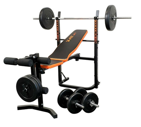BodyRip Folding Weight Bench Gym Equipment Lifting Chest Press Exercise Fitness
