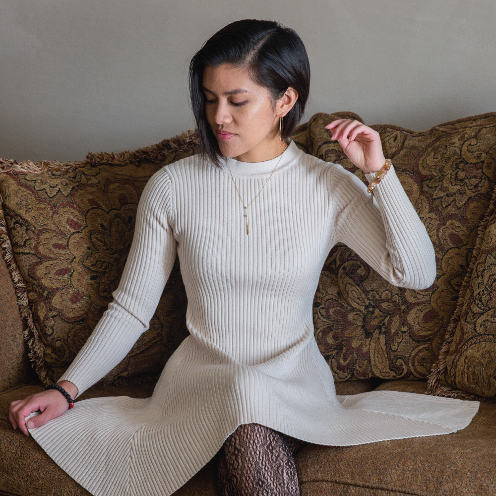 Long Sleeve Sweater Dress-Sweaters-Mon Stop Shop