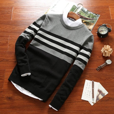 Casual Crewneck Sweater-Sweaters-Mon Stop Shop