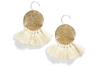 Lunar Sparkle Tassel Earrings - White