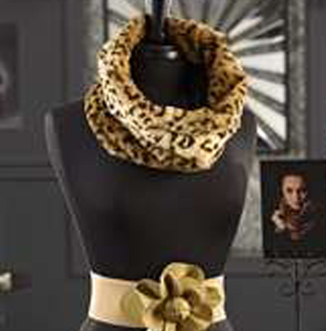 Leopard Faux Fur Collar
