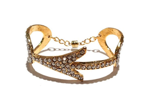 Arrow Cuff Bracelet - Gold