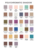 Polychromatic Eyeshadow Color Chart